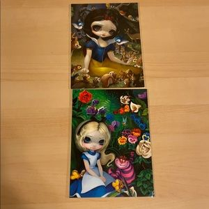BNWT DISNEYLAND WONDERGROUND GALLERY POST CARDS